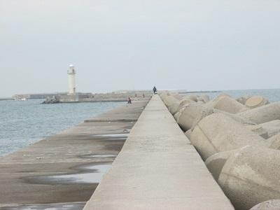 1_防波堤とテトラポッド