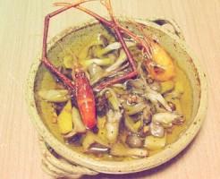 テナガエビと3種キノコのアヒージョTOP写真