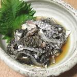 黒鯛(チヌ)の皮湯引き