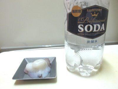 炭酸水と一緒に煮る